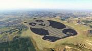 Panda gigante acolhe novo parque solar chinês