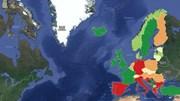 O mapa da taxa de natalidade na Europa em 2016