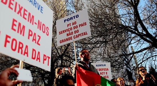 Mais de 2.000 trabalhadores da PT/Meo em marcha de Picoas até São Bento