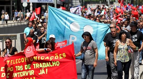 O dia em que os trabalhadores da PT saíram à rua para gritar contra a gestão da Altice