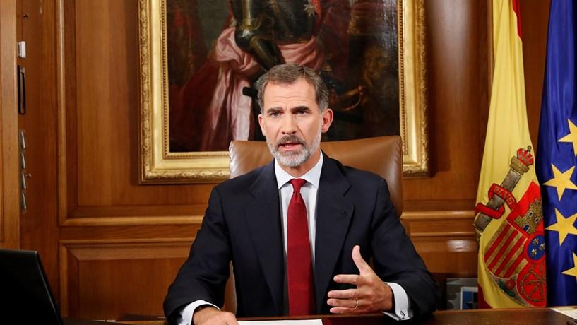 Rei de Espanha fala sobre Catalunha esta noite