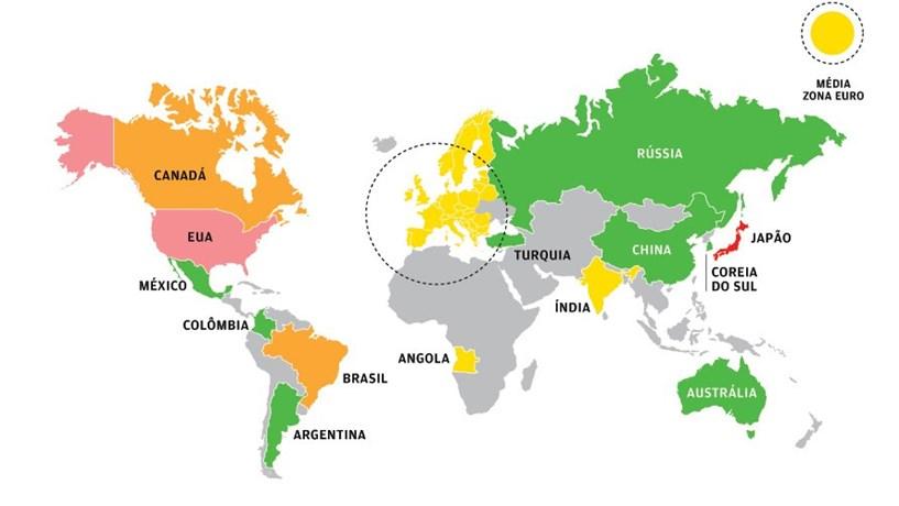 No Mapa Mundial Da Divida Portugal Esta Em Quarto Lugar Financas