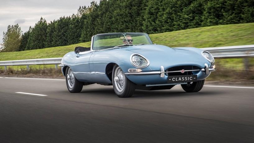 Um Jaguar E-Type de 1968 que é um carro eléctrico - Automóvel ... c7ce66da0cc96